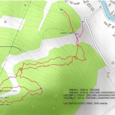 Projekt bikeparku w Szczawnicy na górze Palenica