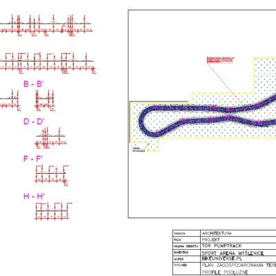 Projekt toru rowerowego pumptrack w Myślenicach